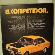 Coleccionismo de carteles: PUBLICIDAD DODGE 1500 GT 90 CHRYSLER ANO 1973. Lote 255075675