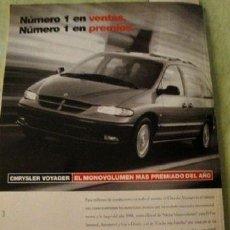Coleccionismo de carteles: PUBLICIDAD CHRYSLER VOYAGER ANO 1997. Lote 255127465