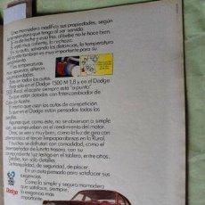 Coleccionismo de carteles: PUBLICIDAD DODGE 1500 CHRYSLER ANO 1980. Lote 255146940