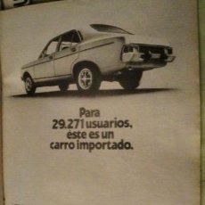 Coleccionismo de carteles: PUBLICIDAD DODGE 1500 CHRYSLER ANO 1977. Lote 255162930