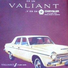 Coleccionismo de carteles: PUBLICIDAD VALIANT 3 CHRYSLER ANO 1965. Lote 255203090