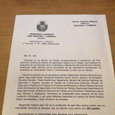 Coleccionismo de carteles: ORDENANZAS LABORALES PARA INDUSTRIA Y COMERCIO. Lote 259855895