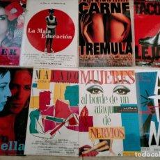 Coleccionismo de carteles: LOTE DE ALMODOVAR PEQUENO CARTELES DE SU FILMOGRAFIA VER FOTOS 13 CARTELES. Lote 262538660