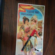 Coleccionismo de carteles: PLAZA DE TOROS DE PONTEVEDRA. 9 Y 15 DE AGOSTO DE 1914 (15,5CM X 38,7CM). Lote 263707620