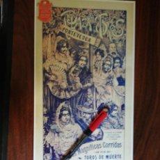 Coleccionismo de carteles: PLAZA DE TOROS DE PONTEVEDRA. 14 Y 15 DE AGOSTO DE 1904 (18,5CM X 39CM). Lote 263709000