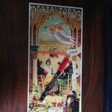 Coleccionismo de carteles: PLAZA DE TOROS DE PONTEVEDRA. 9,10 DE AGOSTO DE 1903 (15,2CM X 39CM). Lote 263709640