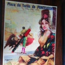 Coleccionismo de carteles: PLAZA DE TOROS DE PONTEVEDRA. 14,15,16 Y 21 DE AGOSTO DE 1983 (26,2CM X 39CM). Lote 263709930