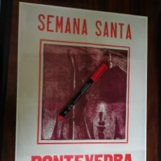 Coleccionismo de carteles: SEMANA SANTA. PONTEVEDRA 1953 (26,5CM X 39CM). Lote 263713070