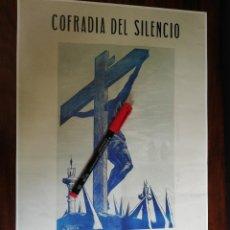 Coleccionismo de carteles: SEMANA SANTA. PONTEVEDRA 1956 (26CM X 39CM). Lote 263713420