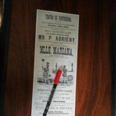 Coleccionismo de carteles: TEATRO PRINCIPAL DE PONTEVEDRA (12,5CM X 39CM). Lote 263714630
