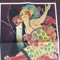 Coleccionismo de carteles: POSTER VINTAGE TEATRO SOLIS CARNAVAL 1923 MONTEVIDEO. Lote 268091799