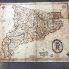Coleccionismo de carteles: MAPA DE CATALUÑA DIVIDIDO EN SUS ACTUALES PROVINCIAS YNDAR. Lote 199097538