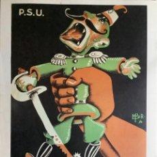 Coleccionismo de carteles: REPRODUCCIÓN DE CARTEL PROPAGANDA GUERRA CIVIL, SEGUNDA REPÚBLICA. FEIXISME NO.. REPROD. DE 1979. Lote 270645418