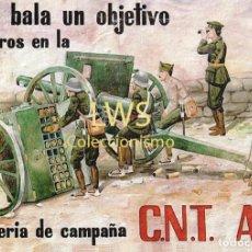 Collectionnisme d'affiches: ALISTAROS EN LA ARTILLERIA DE CAMPAÑA C.N.T. A.I.T. - CARTELES - GUERRA CIVIL - MILITAR - POLITICOS. Lote 272987123