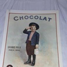Coleccionismo de carteles: BELLA REPRODUCCIÓN GRAN CARTEL CHOCOLAT SUCHARD GRAND PRIX PARIS 1900. Lote 274831918