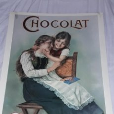 Coleccionismo de carteles: BELLA REPRODUCCIÓN GRAN CARTEL CHOCOLAT SUCHARD. Lote 274832023