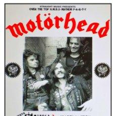 Coleccionismo de carteles: MOTORHEAD - BINGLEY HALL STAFFORD 1980 - CARTEL CONCIERTO 30X40. Lote 277025578
