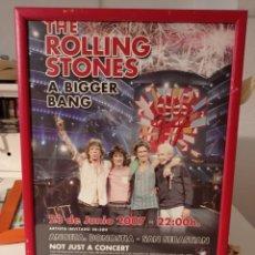 Colecionismo de cartazes: ROLLING STONES CARTEL ORIGINAL ENMARCADO GIRA 2007.. Lote 280854423