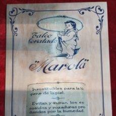 Coleccionismo de carteles: CARTEL PUBLICIDAD TALCO MAROLA.. Lote 284294258