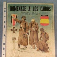 Coleccionismo de carteles: 10 CUPONES RACIONAMIENTO GUERRA CIVIL DIVISION AZUL HOMENAJE A LOS CAIDOS RUSIA 1942. Lote 288689378