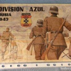 Coleccionismo de carteles: 10 CUPONES RACIONAMIENTO GUERRA CIVIL DIVISION AZUL RUSIA 1943. Lote 288689638