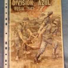 Coleccionismo de carteles: 10 CUPONES RACIONAMIENTO GUERRA CIVIL DIVISION AZUL RUSIA 1942. Lote 288689753