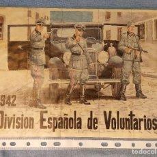 Coleccionismo de carteles: 10 CUPONES RACIONAMIENTO GUERRA CIVIL DIVISION ESPAÑOLA DE VOLUNTARIOS 1942. Lote 288690768