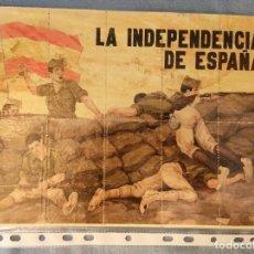 Coleccionismo de carteles: 10 CUPONES RACIONAMIENTO GUERRA CIVIL LA INDEPENDENCIA DE ESPAÑA. Lote 288691373