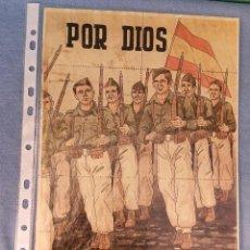 Coleccionismo de carteles: 10 CUPONES RACIONAMIENTO GUERRA CIVIL POR DIOS POR ESPAÑA. Lote 288692753