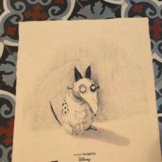 Colecionismo de cartazes: FRANKENWEENIE TIM BURTON POSTER IMPRESO EN PAPEL RECICLADO A MANO EN JAPÓN FORMATO DIN A3. Lote 290298288