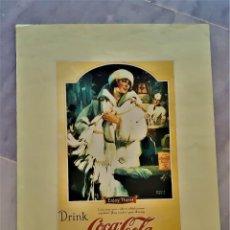Colecionismo de cartazes: CARTEL COCACOLA - 39 X 29.CM PAPEL. Lote 292544768