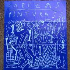 Coleccionismo de carteles: JOGE CABEZAS CARTEL PROGRAMA EXPO-COLEGIO OFICIAL DE AQUITECTOS DE GALICIA 1998 CON UNAS MEDIDAS DE. Lote 295445823