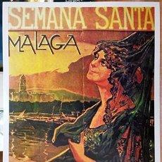 Coleccionismo de carteles: REPRODUCCION CARTEL SEMANA SANTA DE MALAGA AÑO 1922 - MALAGASANTA-001. Lote 295445988