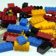 Reproducciones Figuras de Acción: LOTE PIEZAS CONSTRUCCIÓN PLÁSTICO DURO TIPO LEGO TENTE. Lote 34182875