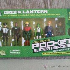 Reproducciones Figuras de Acción: GREEN LANTERN POCKET SUPER HEROES LINTERNA VERDE DC COMICS VERTICE MARVEL COMPATIBLE. Lote 35544568