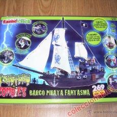 Reproducciones Figuras de Acción: BARCO PIRATA FANTASMA MONSTERS VS ZOMBIES DE FAMOCLICK FAMOSA NUEVO A ESTRENAR COMPATIBLE LEGO. Lote 46441098