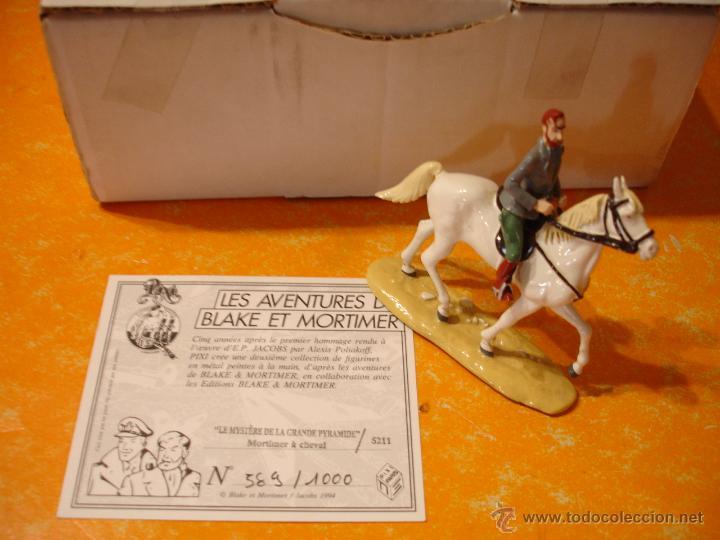 FIGURA DE PLOMO PIXI BLAKE Y MORTIMER . MORTIMER A CABALLO - A CHEVAL Nº 589 DE 1000 . (Juguetes - Reproducciones Figuras de Acción)