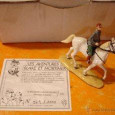Reproducciones Figuras de Acción: FIGURA DE PLOMO PIXI BLAKE Y MORTIMER . MORTIMER A CABALLO - A CHEVAL Nº 589 DE 1000 .. Lote 52952417