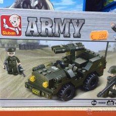Reproducciones Figuras de Acción: SLUBAN ARMY. COMPATIBLE 100% CON LEGO (REF. M38-B5800: JEEP). Lote 54109616