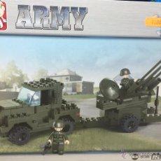 Reproducciones Figuras de Acción: SLUBAN ARMY. COMPATIBLE 100% CON LEGO (REF. M38-B7300: JEEP ANTIAÉREO). Lote 54109715