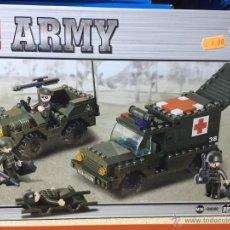 Reproducciones Figuras de Acción: SLUBAN ARMY. COMPATIBLE 100% CON LEGO (REF. M38-B6000: JEEP Y AMBULANCIA). Lote 54109738