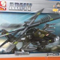 Reproducciones Figuras de Acción: SLUBAN ARMY. COMPATIBLE 100% CON LEGO (REF. M38-B0511: HELICÓPTERO APACHE). Lote 54109761