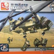 Reproducciones Figuras de Acción: SLUBAN ARMY. COMPATIBLE 100% CON LEGO (REF. M38-B0508: HELICÓPTERO DE TRANSPORTE). Lote 54109777