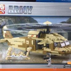 Reproducciones Figuras de Acción: SLUBAN ARMY. COMPATIBLE 100% CON LEGO (REF. M38-B0509: HELICÓPTERO BLACK HAWK). Lote 54109804