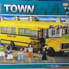 Reproducciones Figuras de Acción: SLUBAN TOWN. COMPATIBLE 100% CON LEGO (REF. M38-B0506: AUTOBÚS ESCOLAR). Lote 54109813