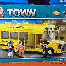 Reproducciones Figuras de Acción: SLUBAN TOWN. COMPATIBLE 100% CON LEGO (REF. M38-B0507: AUTOBÚS ESCOLAR). Lote 54109816