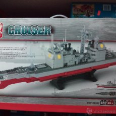 Reproducciones Figuras de Acción: SLUBAN AIRCRAFT CARRIER BATTLE GROUP. COMPATIBLE 100% CON LEGO (REF. M38-B0389: CRUCERO). Lote 54188458