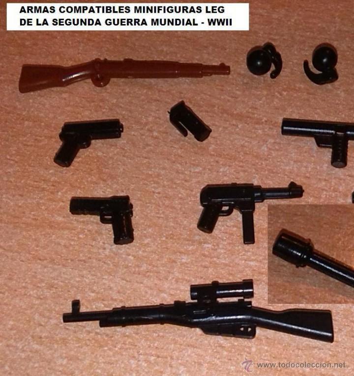 LOTE DE ARMAS PARA MINIFIGURAS CUSTOM LEGO COMPATIBLES / ARMY GUN (Juguetes - Reproducciones Figuras de Acción)