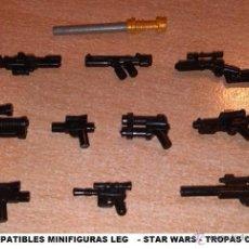 Reproducciones Figuras de Acción: LOTE DE ARMAS STAR WAR PARA MINIFIGURAS CUSTOM COMPATIBLES ALEGORICAS / ARMY GUN. Lote 55077319