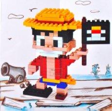Reproducciones Figuras de Acción: FIGURA LUFFY RUFFY ONE PIECE PARA CONSTRUIR BLOQUES LEGO. Lote 57664978
